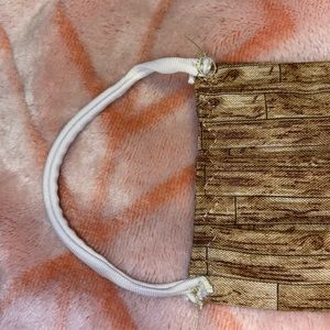 Hand Crafted Other - face mask with filter pocket wood pattern